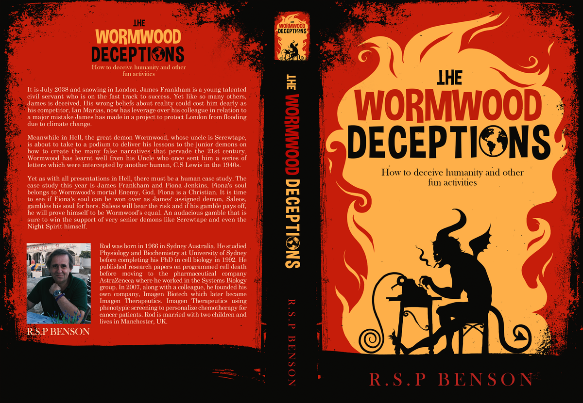 Book cover design for The Wormwood Deceptions