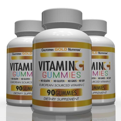 vitamin C label