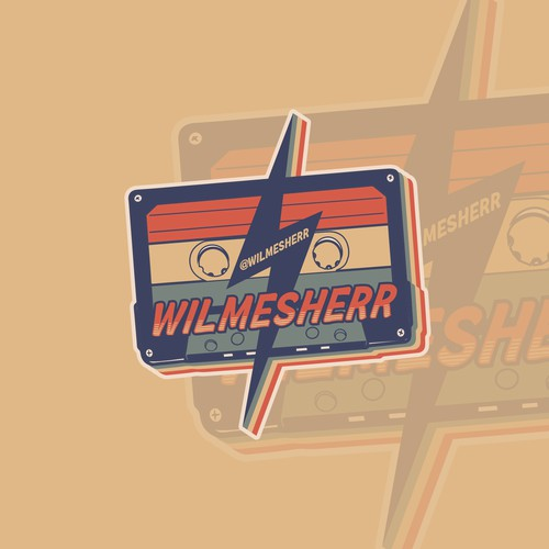 WILmesherr casette sticker design
