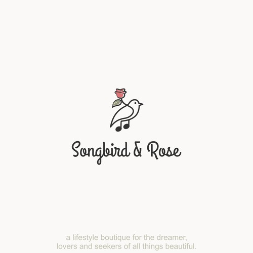 Modern & Sophisticated logo for Songbird & Rose