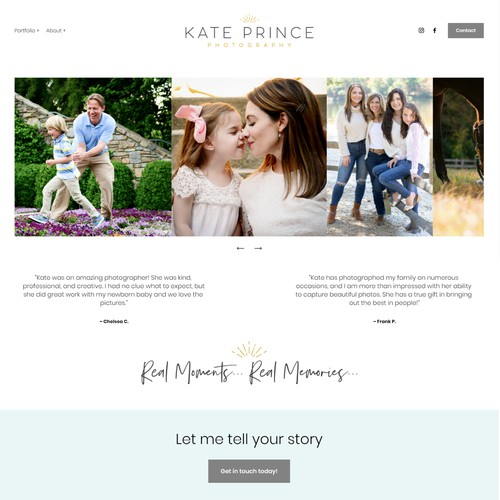 Website Design for Kate Prince Photography