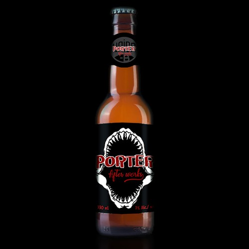 Shark theme label design