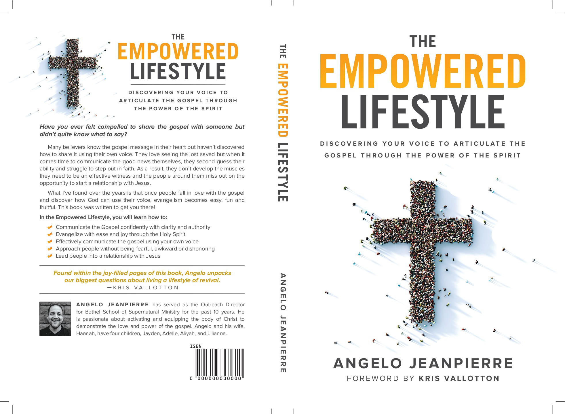 Book cover design thats clean but still stirs passion to impact the people around you w/the Love of God