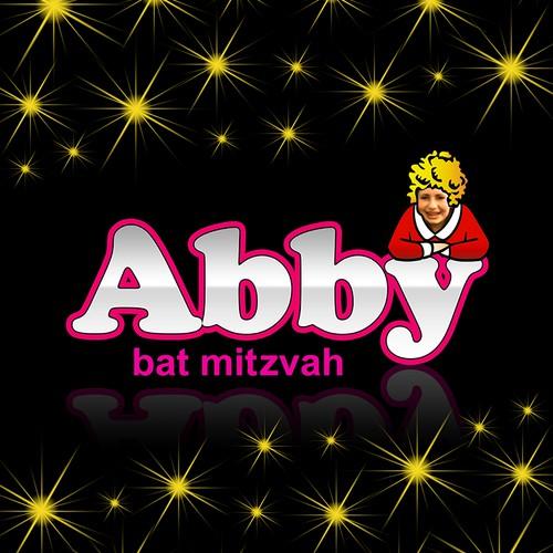 Create a Broadway themed bat mitzvah logo.