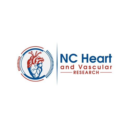 "Logo Design For ""NC Heart and Vascular Research"""
