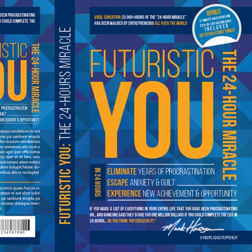 FUTURISTIC YOU: The 24-Hour Miracle (Front & Back Cover Design)