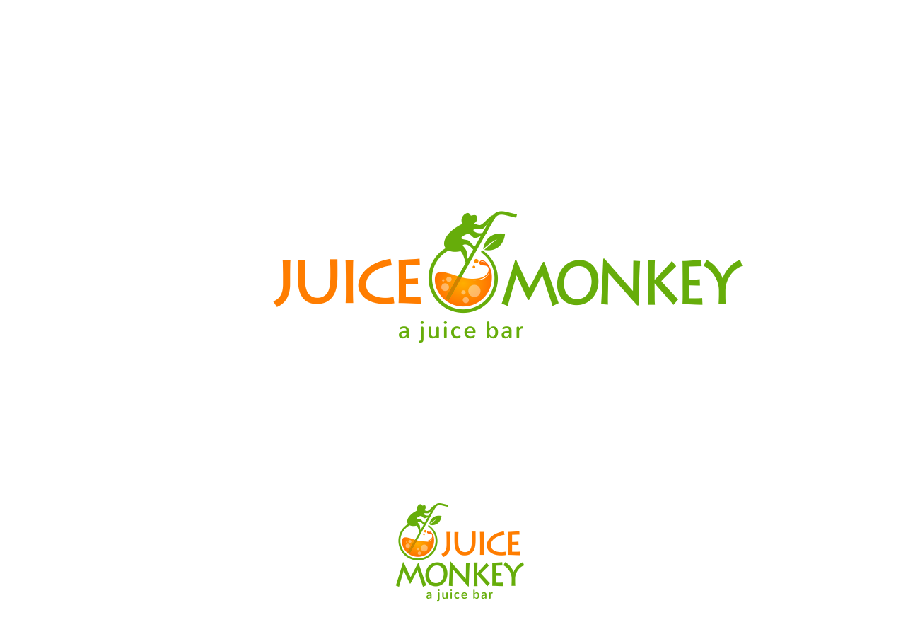 Create a playful and trendy logo for Juice Monkey!
