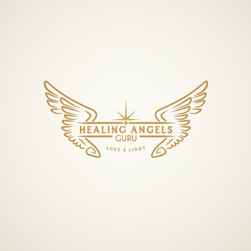 Healing Angles Guru logo design concept