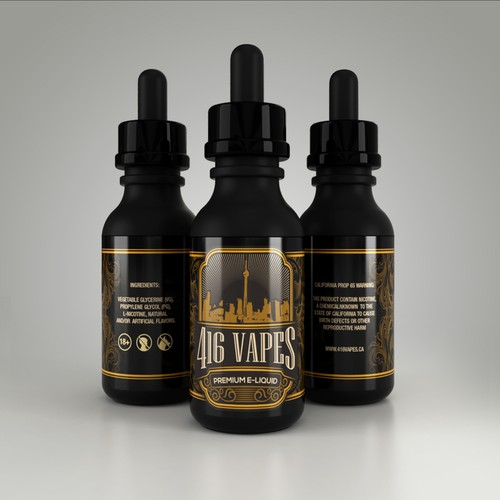 Label Design for 416 Vapes