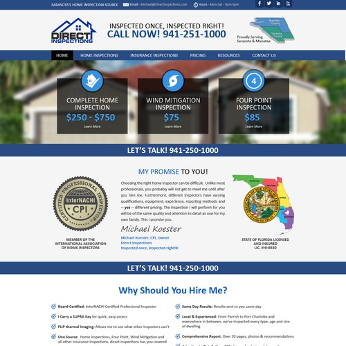 Direct Inspections - Home Inspection Website