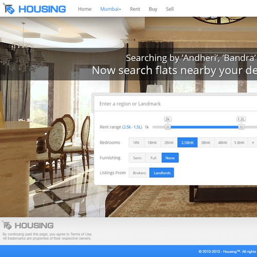 Website design for Housing