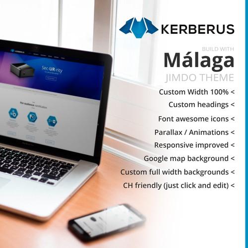 Jimdo web. Custom MALAGA theme.