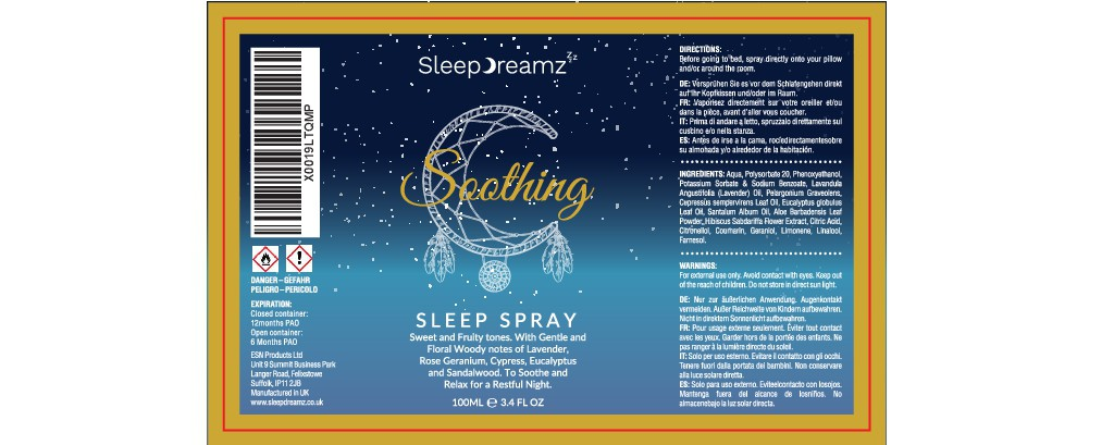 Sleep Spray label design for global Sleep brand