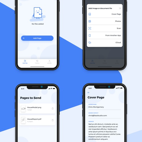 Simply app for sending documents