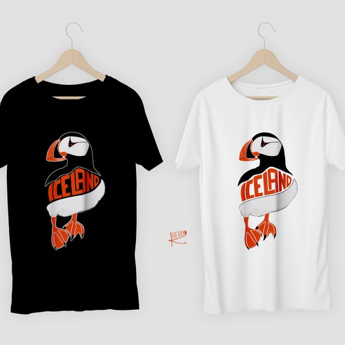 Puffin shirt for Iceland tourism