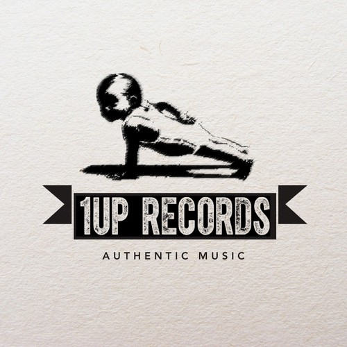1UP Records Logo Design
