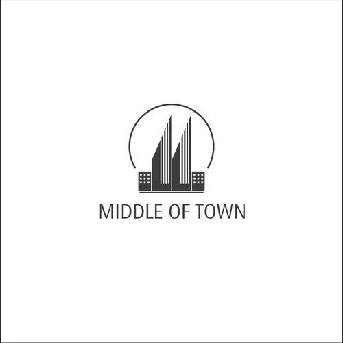logo concept for middle of town