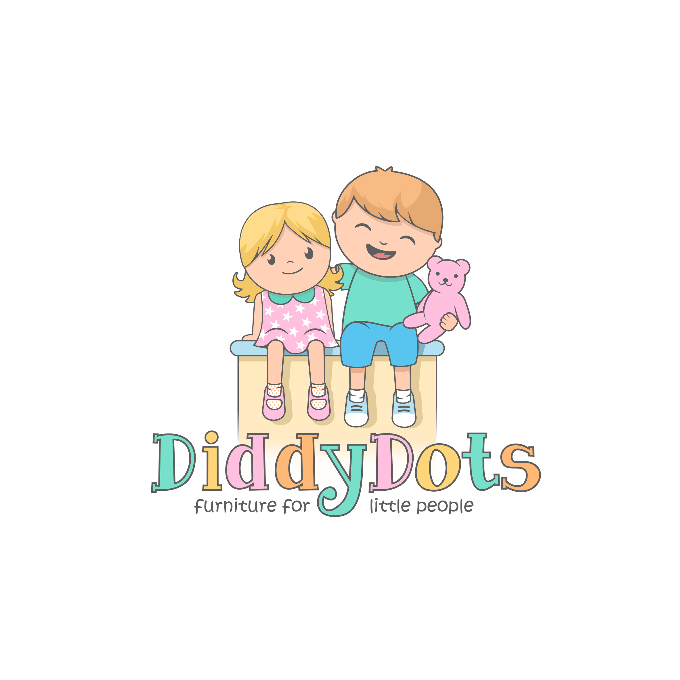 Create a fun & playful logo for DiddyDots- children's Personalised Toy Boxes & Furniture