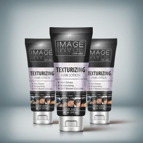 Tube Design For Men's Hair Product.