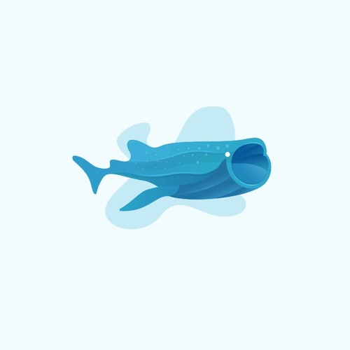 Playful fish logo for a remote business services provider