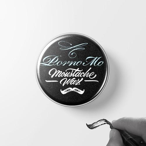 Moustache Wax lable design
