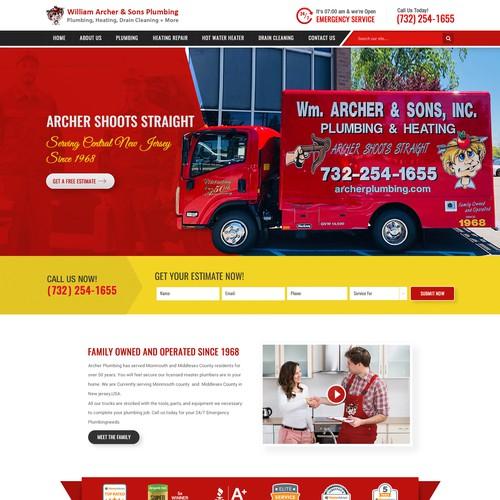 Plumbing Company Awesome Website