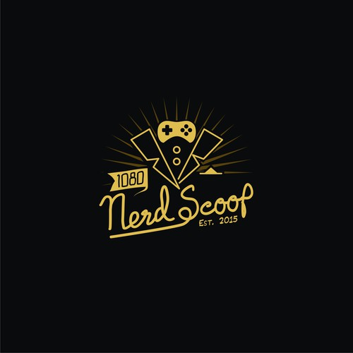 fun and classic logo for nerd scoop