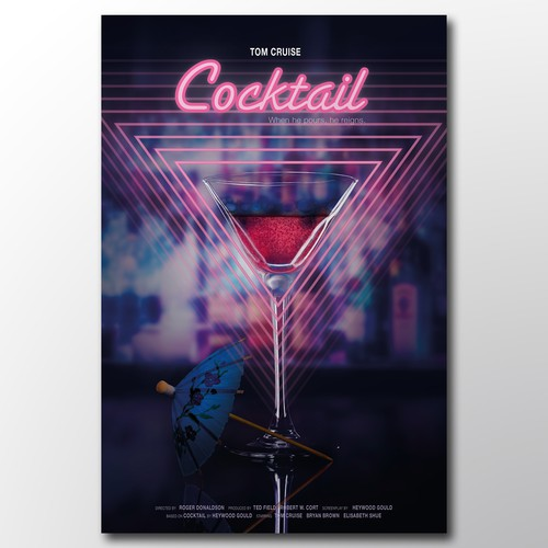 "Recreate ""cocktail"" movie poster."