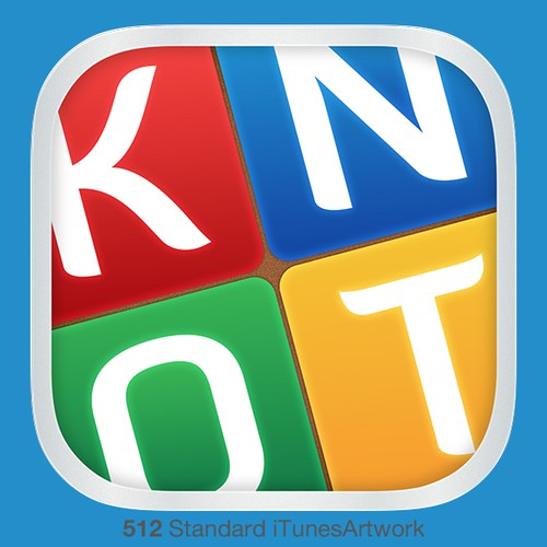 Icon for game to unscramble a phrase that is in a 'knot'