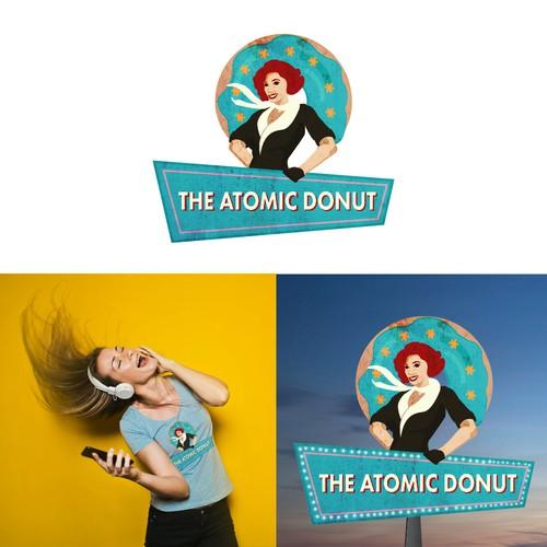Vintage Logo for Donut Shop