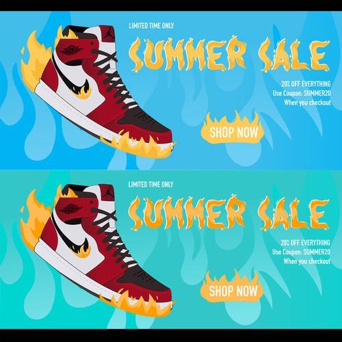 Sneaker summer sale add