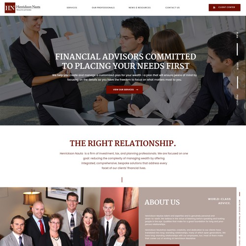 Wealth Management Website