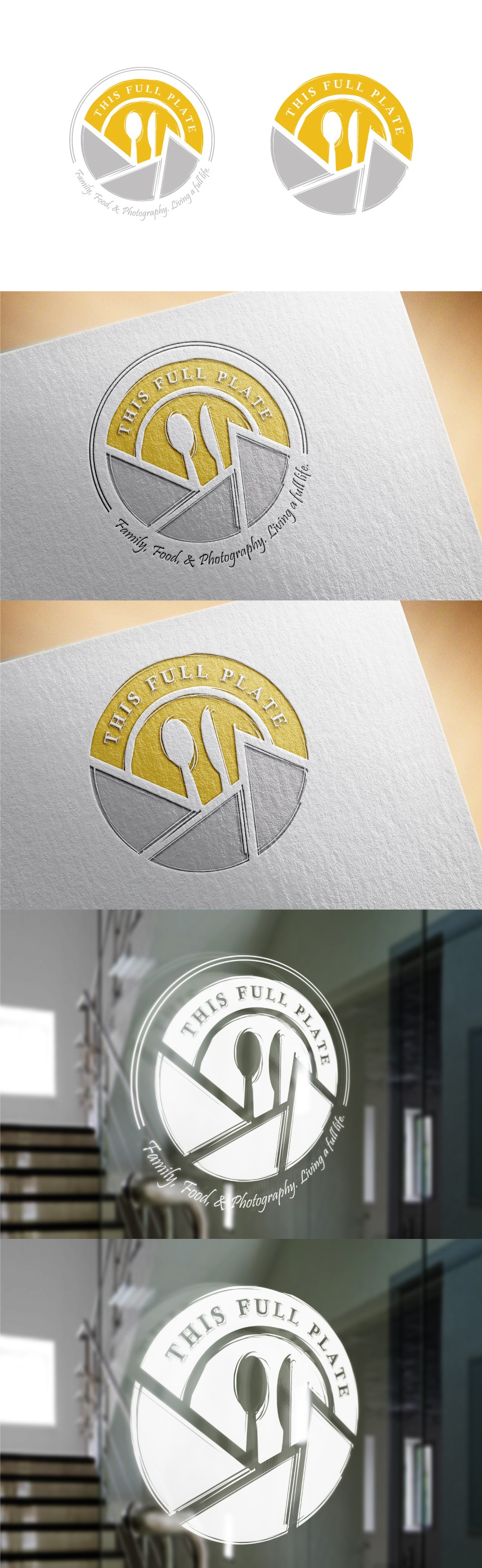 Create a simple, elegant and sophisticated logo for a blog about cooking, photography and travel