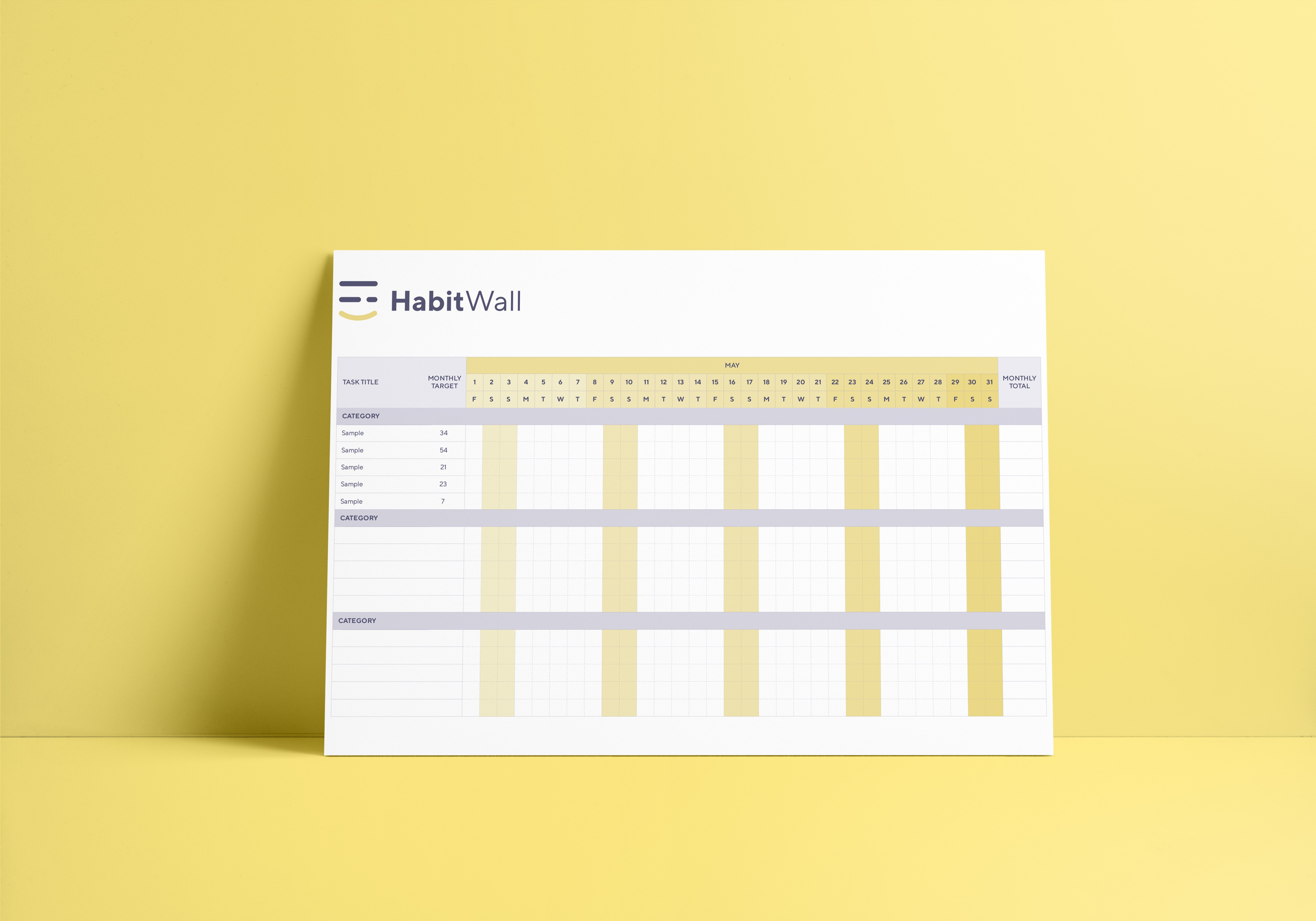HabitWall - Product Design