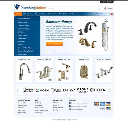 website design for PlumbingOnline
