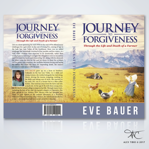 "Full Book Cover Design for Eve Bauer's ""Journey to Forgiveness"""