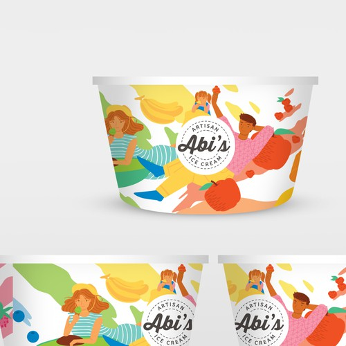 Packaging design for Ice Cream