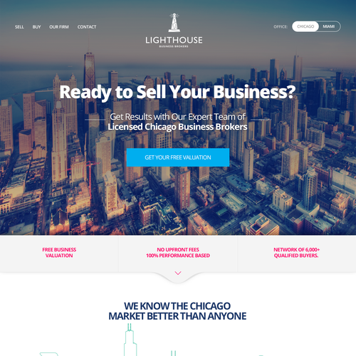 Homepage Website for a Broker Company