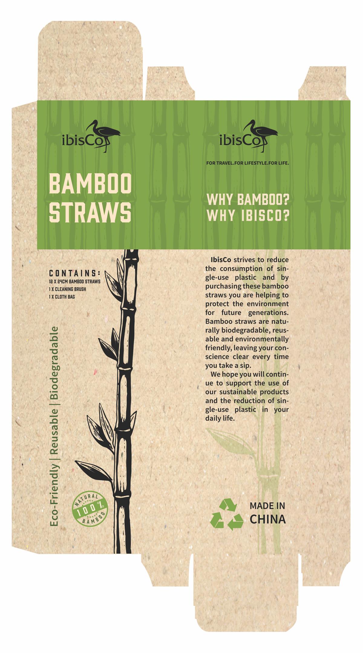 Bamboo straws box