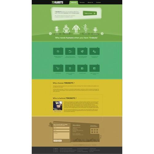 Create the next website design for 73robots