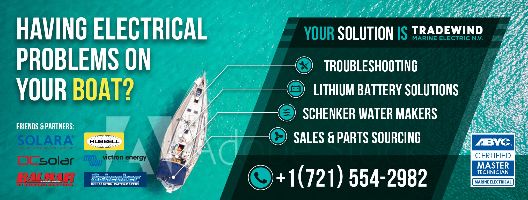 FaceBook page to promote marine electric business.