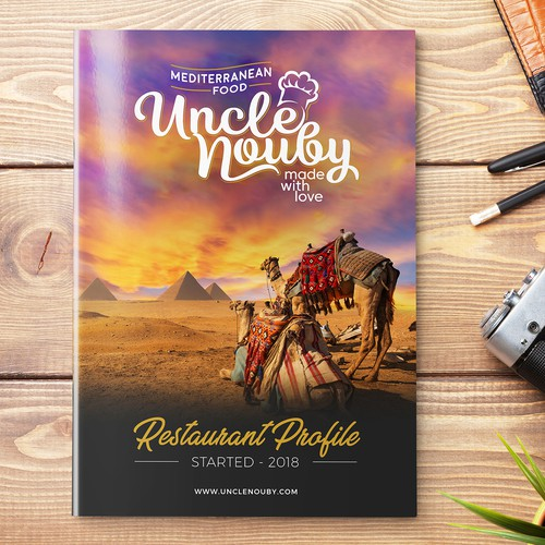 "Brochure for ""Uncle Nouby"" Restaurant in Egypt"
