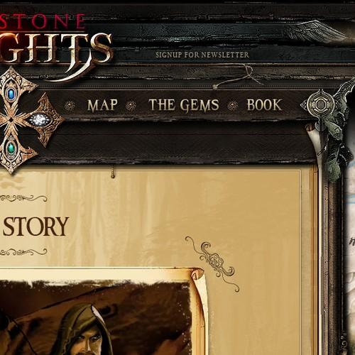 Gemstone Knights website design