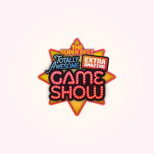 Fun and bold logo for a kid's game show!