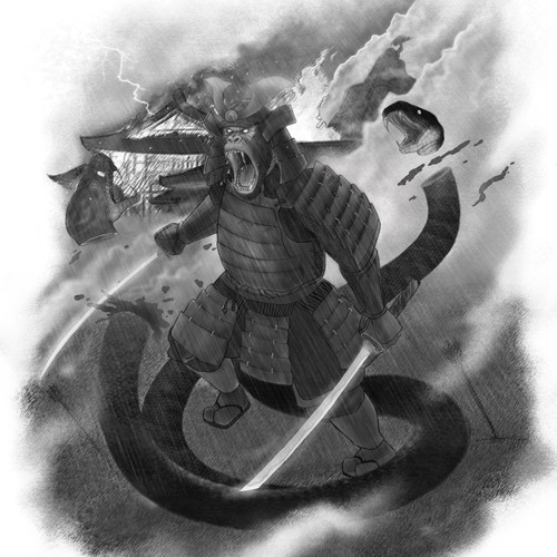 Gorilla Samurai Tattoo