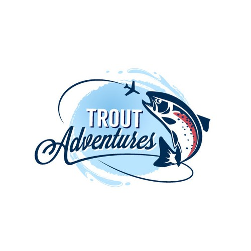 Create an adventure illustation searching the world trout.
