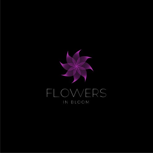 Beautiful flower logo design