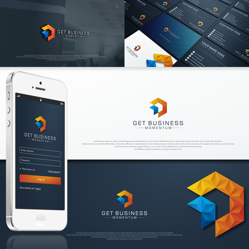Logo and social media pack for 'GET BUSINESS MOMENTUM'