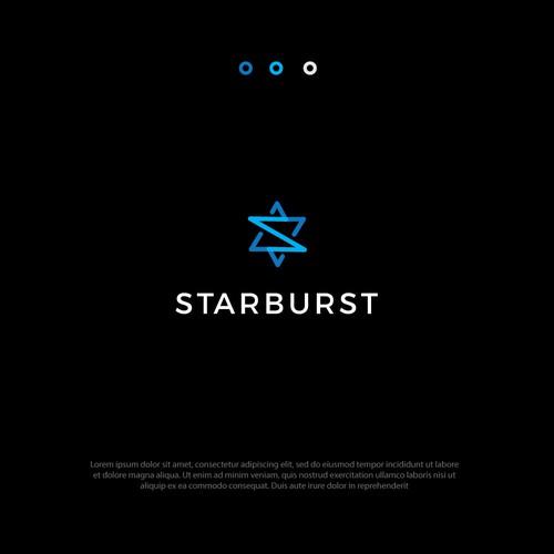 Star burst logo concept.