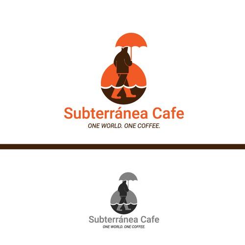 Bold logo concept for subterránea cafe